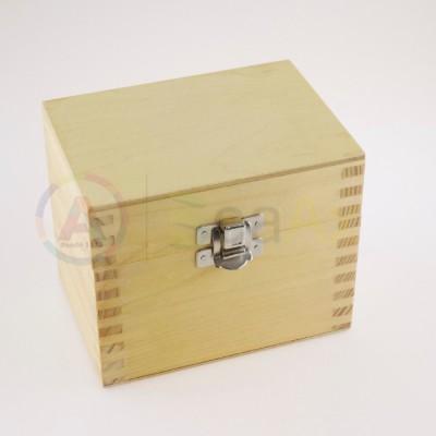 Scatola legno 5 scompartimenti removibili chiusura metallo scatto 115x80x100 mm AG0151