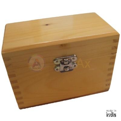 Scatola legno 7 scompartimenti removibili chiusura metallo scatto 150x85x95 mm AG0152