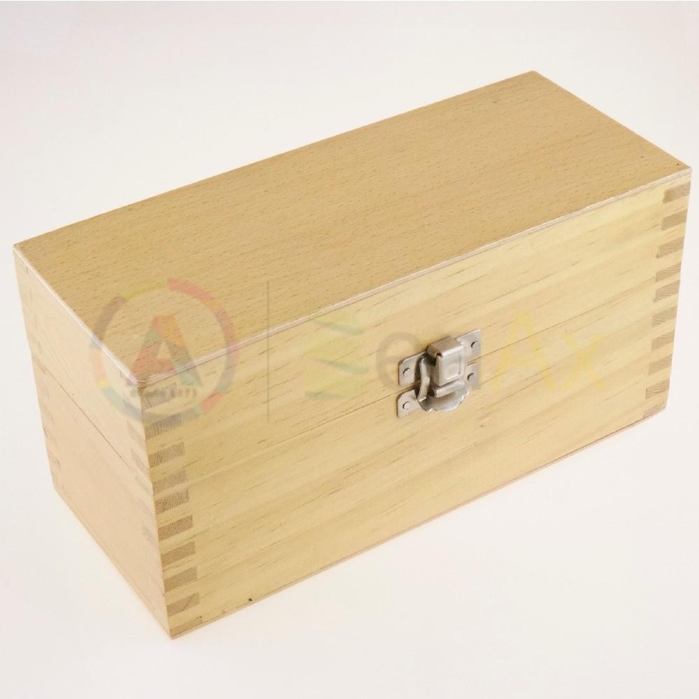 Scatola legno 8 scompartimenti removibili chiusura metallo scatto 200x85x95 mm AG0152-A