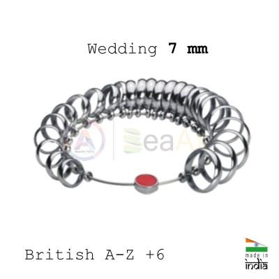 Anelliera professionale in acciaio massiccio scala British A-Z +6 con 32 anelli AG0878
