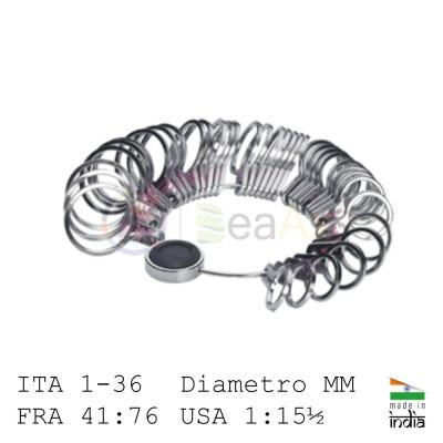 Anelliera in alluminio massiccio 4 scale misure Italiana 1 / 36, FRA, USA e MM AG0873