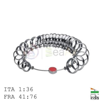 Anelliera professionale in acciaio massiccio 36 anelli larghezza 7 mm ITA e FRA AG0879