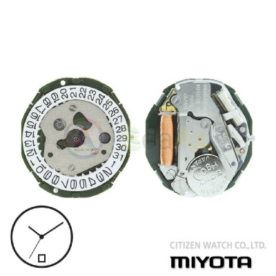 Movimento al quarzo Miyota 2015 tre sfere datario H6 Citizen Watch Japan MYM-2015-H6