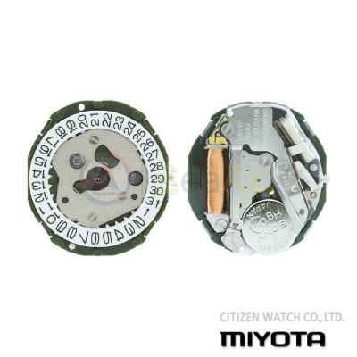 Movimento al quarzo Miyota 2015 tre sfere datario H3 Citizen Watch Japan MYM-2015