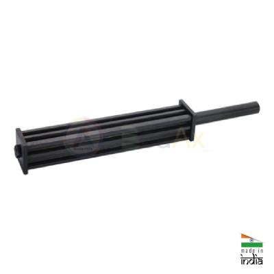Staffa lingottiera per fusioni a 6 canali in ghisa 350 mm con manico AG0402