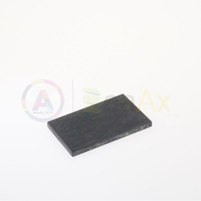 Natural touchstone - 75x50x6 mm for testing precious metal
