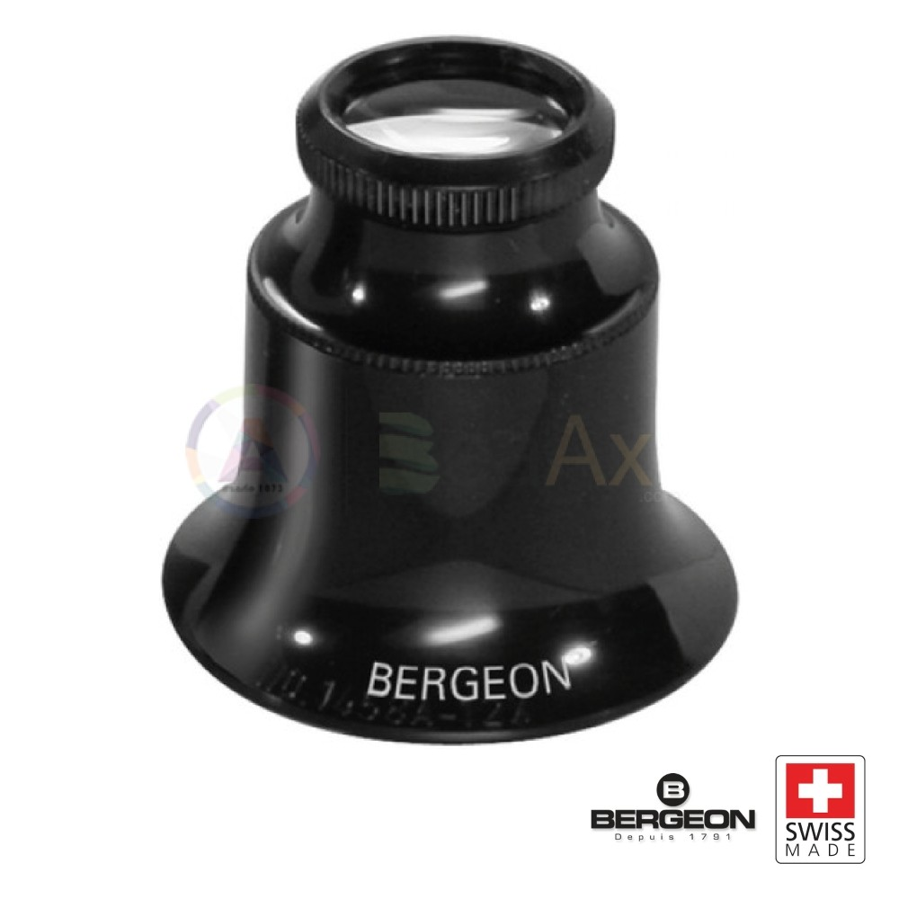 Lente monocolo Bergeon ingrandimento 5x in plastica nera Swiss Made  BG4422-20