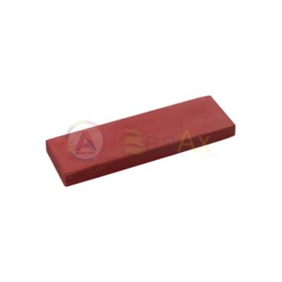 Pietra lucidante rettangolare grana extra fine rossa 130x40x10 mm lucidatura