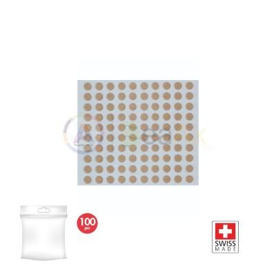 Adesivi per quadranti tondo ø 4 mm confezione 100 pz bi-adesivo Swiss Made MSA-70.001-40