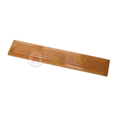 Vassoio in legno lucido da banco per infilatura perle e pietre 560x95x15 mm