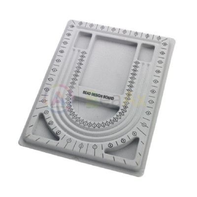 Vassoio plastica rivestita soft velluto infilatura perle e pietre 330x245x15 mm