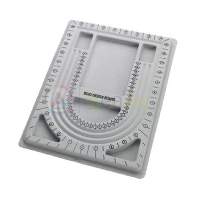Vassoio plastica rivestita soft velluto infilatura perle e pietre 330x245x15 mm AG0079