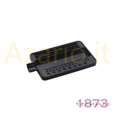 Vassoio plastica nero per infilatura perle e pietre 110x70x10 mm