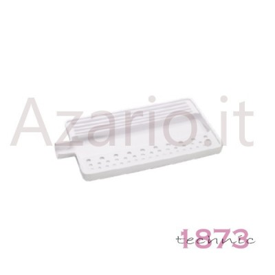 Pearls stringing white plastic tray 180x95x10 mm