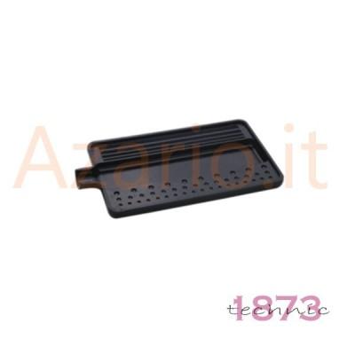Vassoio plastica nero per infilatura perle e pietre 180x95x10 mm