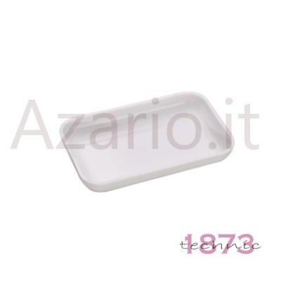 Vassoio portapezzi plastica bianco rettangolare 80x50x15 mm