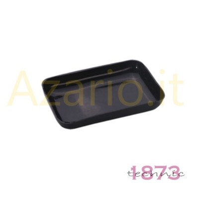 Rectangular black plastic tray 80x50x15 mm