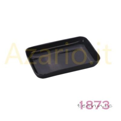 Vassoio portapezzi plastica nero rettangolare 80x50x15 mm