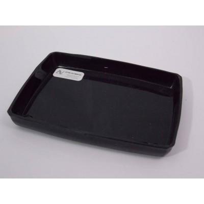 Vassoio portapezzi plastica nero rettangolare 120x90x20 mm