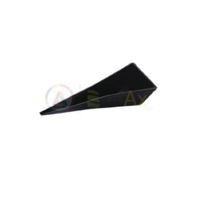 Vassoio portapezzi triangolare in alluminio nero 155x65x35 mm