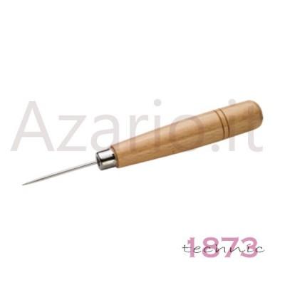Punteruolo in acciaio con manico in legno per infilatura ed annodatura 150 mm