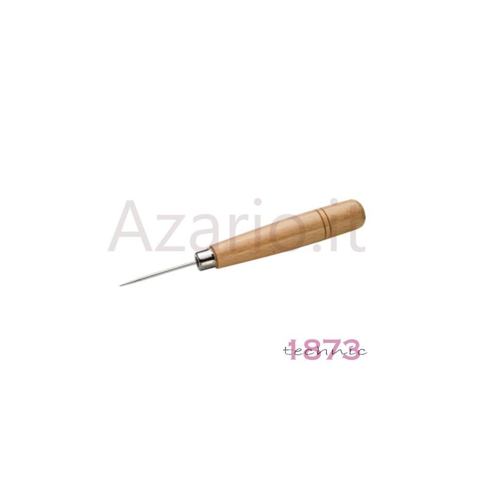 Punteruolo in acciaio con manico in legno per infilatura ed annodatura 150 mm AG0105
