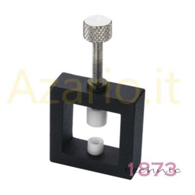 Morsetto ferma perle e pietre in alluminio con teste in plastica 52x78x15 mm