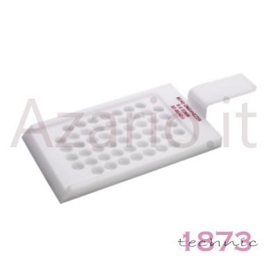 Vassoio plastico per esposizione perle ø 2 / 3 mm da 100 posti - 110x80  mm