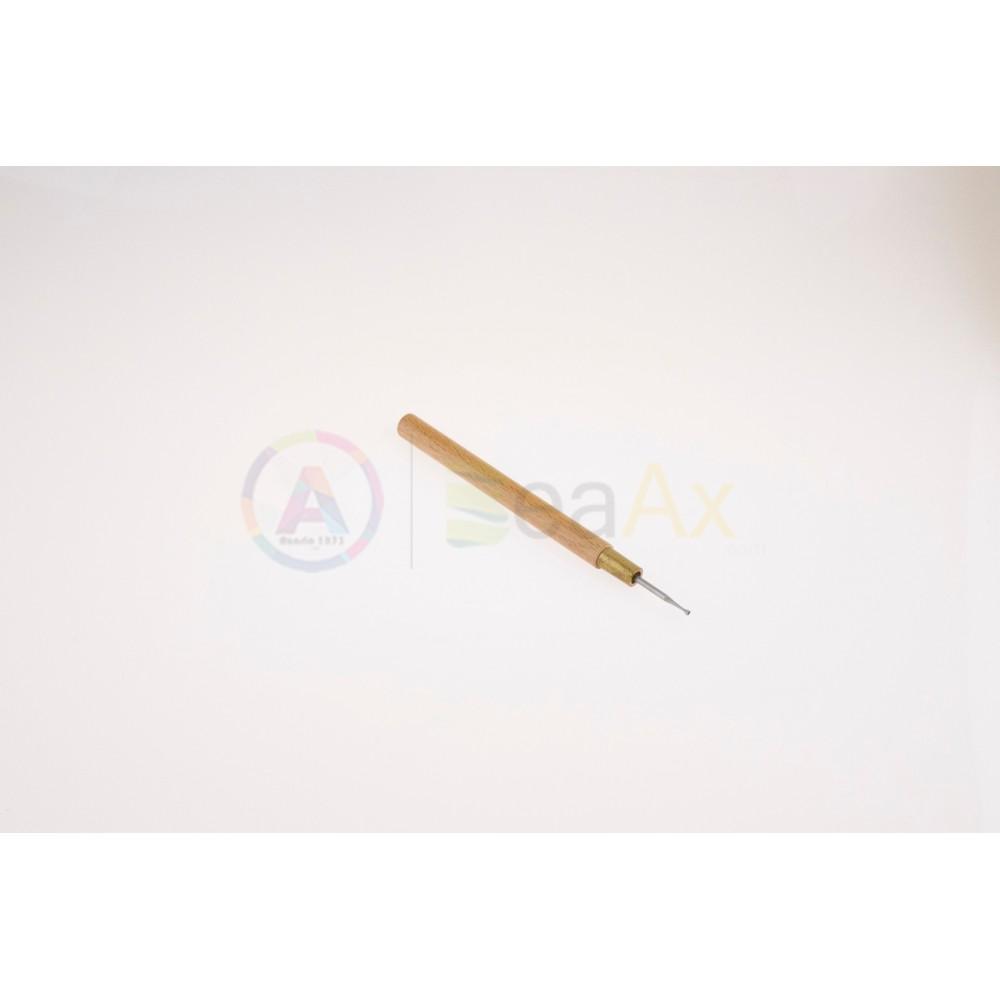 Strumenti affila rifinisci perni con manico in legno ø 1.50 mm lunghezza 140 mm AG0120