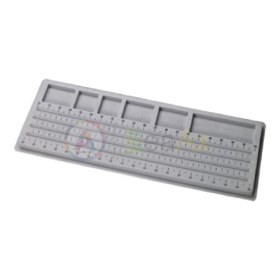 Vassoio plastica rivestita soft velluto infilatura perle e pietre 540x210x15 mm AG0083-19