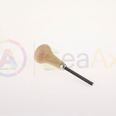 Calca baste in acciaio con lama quadra e manico in legno 100 mm