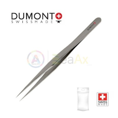 Pinzetta Dumont standard n° 3 in acciaio Dumoxel antimagnetico con punte dritte