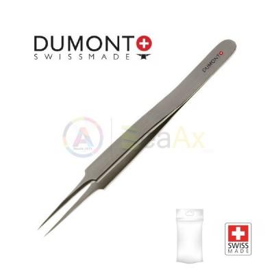 Pinzetta Dumont standard n° 5 in acciaio Dumoxel antimagnetico con punte dritte