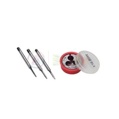 Filiera in acciaio con relativa serie di 3 maschi 1/16' in Carbon Steel BSW duro AG0218