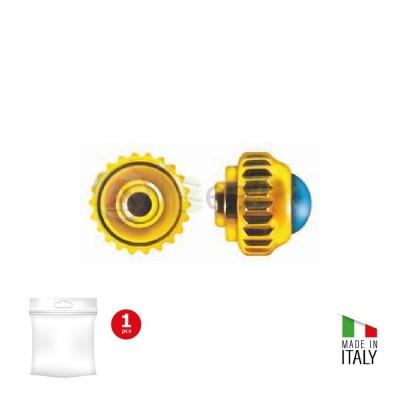 Corona antipolvere Cabochon canotto corto metallo laminato 6 mc - Passo tige 90 B-85.70-P090