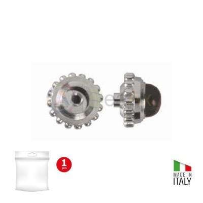 Corona antipolvere Cabochon canotto corto metallo palladiato - Passo tige 90 B-80.50-P090