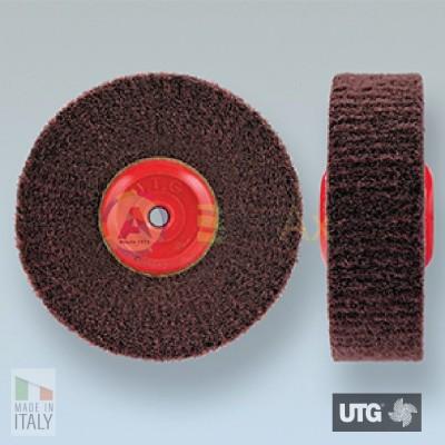 Spazzola circolare scotch brite UTG finitura satinatura grana extra fine ø 100 mm UTG-R54001.100.30E