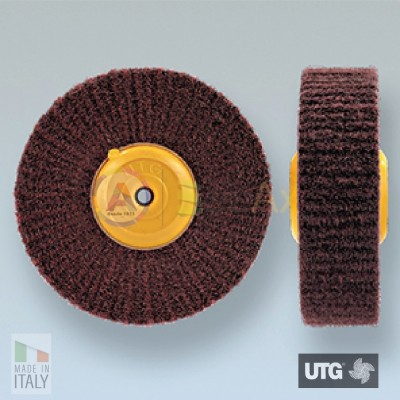 Spazzola circolare scotch brite UTG finitura satinatura grana fine - ø 100 mm UTG-R54002.100.30E
