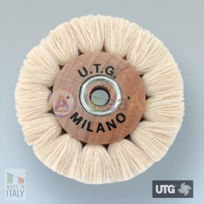 Spazzola circolare in cotone bianco filato extra morbida ø 50 mm UTG lucidatura UTG-R54500-050