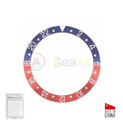 Aluminium bezel insert for Rolex GMT Master II Blue / Red 16700 16710