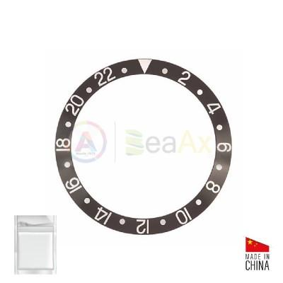 Inserto in alluminio per ghiera Rolex  GMT Master II Nero Argento 16700 16710