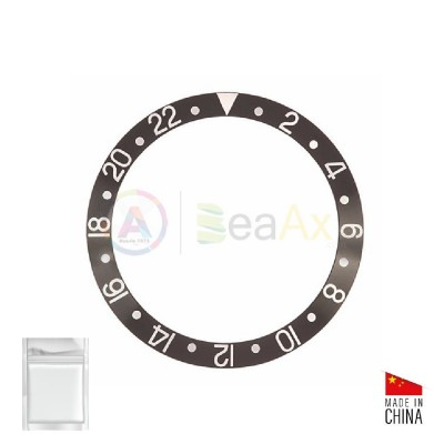 Inserto in alluminio per ghiera Rolex GMT Master II Nero Argento 16700 16710 RX-315.16700.1