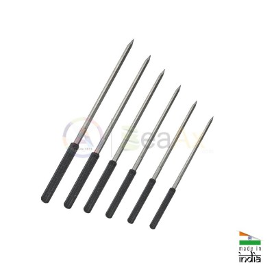 Assortment of 5-sided cutting broaches plastic handle 6 pcs ø 0.80 - 2.30 mm