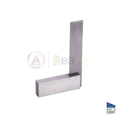 Squadra di precisione 90° rettificata in acciaio non temperato 100x70 mm