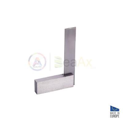 Squadra di precisione 90° rettificata in acciaio non temperato 80x50 mm