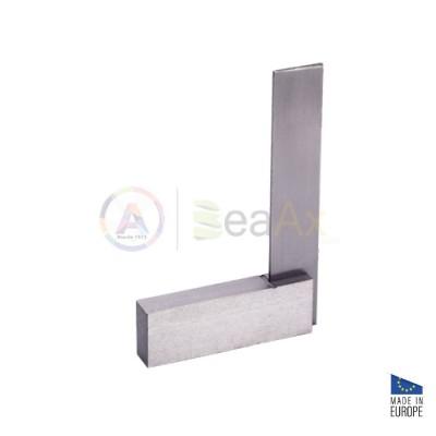 Squadra di precisione 90° rettificata in acciaio non temperato 123x80 mm