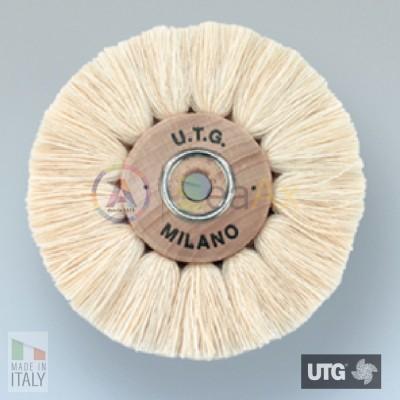 Spazzola circolare in cotone bianco filato extra morbida ø 70 mm UTG lucidatura UTG-R54500-070