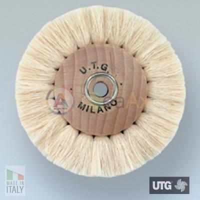 Spazzola circolare in cotone bianco filato extra morbida ø 80 mm UTG lucidatura