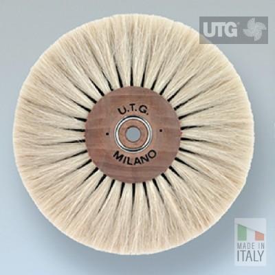 Spazzola circolare pelo di capra chiaro morbido ø 100 mm 5 ranghi UTG lucidatura UTG-R53800M-1005L