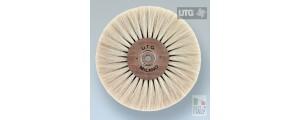 Top quality circular polishing brush goat hair white ø 100 mm 5 rows UTG